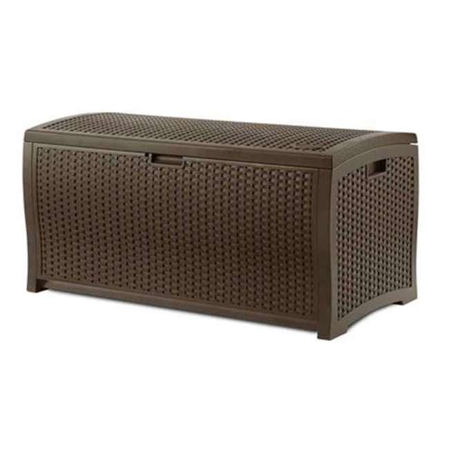 BMOC4100 + DBW7300 Suncast 97 Gal Backyard Storage Entertaining Station & 73 Gal Outdoor Deck Box 4