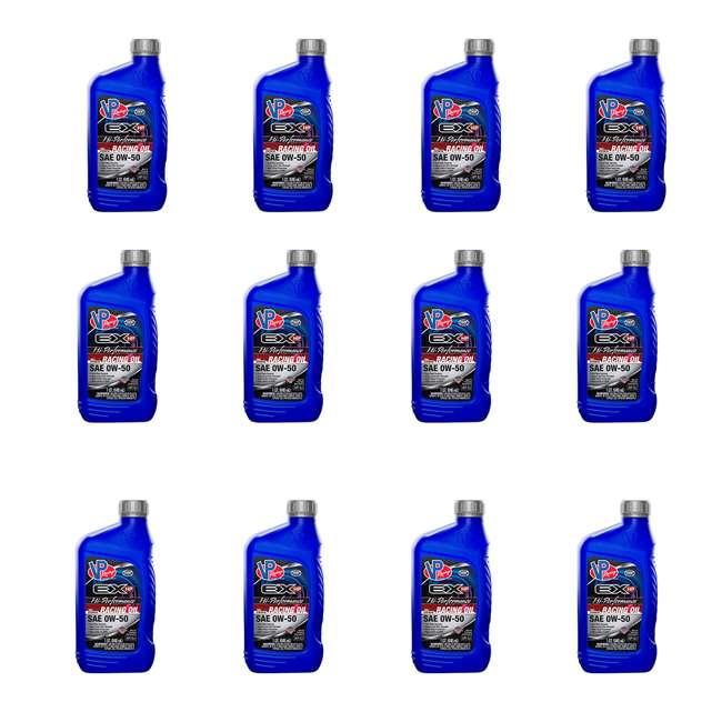 12 x 2758 VP EX HP SAE 0W-50 Hi Perf Racing Oil Quart Retail Bottle (12 Pack)