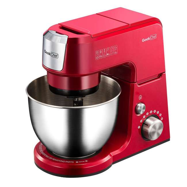 GM25R + GMFP Geek Chef GM25R 2.6 Quart 7 Speed Tilt Head Stand Mixer & Food Processor Chopper 1