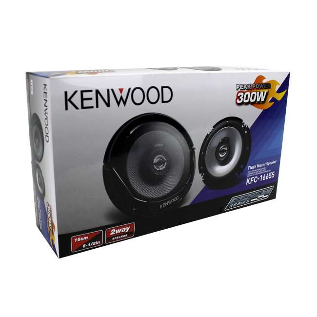 KFC-1666S Kenwood KFC-1665S 6.5-Inch 300W Speakers (4-pack) 10