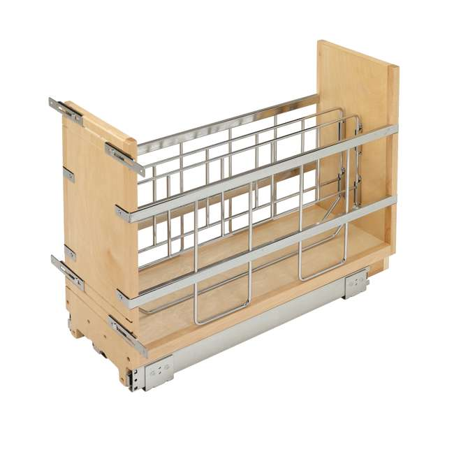 447-BCBBSC-8C Rev-A-Shelf 447-BCBBSC-8C 8 Inch Kitchen Pull Out Tray Divider Cabinet Organizer