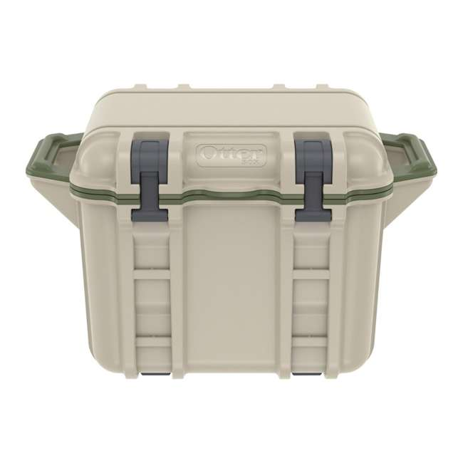 77-54865 OtterBox Venture Heavy Duty Outdoor Camping Fishing Cooler 25-Quarts, Tan/Green 3
