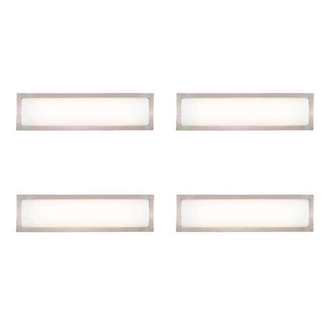 4 x PLC-F353036U Philips Forecast 24W 277V Rene Bathroom Wall Light, Satin Nickel Finish (4 Pack)