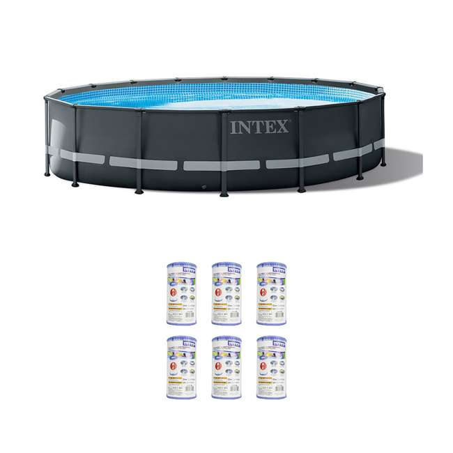 26325EH + 6 x 29000E Intex 26325EH Pool w/ Pump & Filter (6 pack)