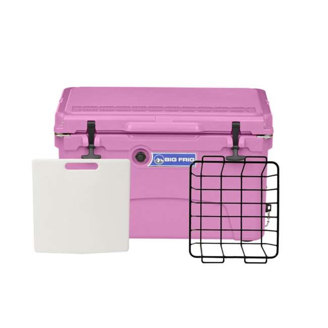 BFDB45-PK Big Frig 45 Quart 64 Can Plastic Insulated Cooler, Pink