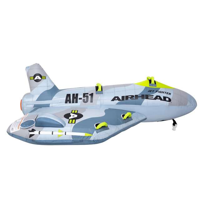 AHFJ-14 Airhead Jet Fighter Airplane 4 Person Inflatable Boat Towable Water Tube Raft 1