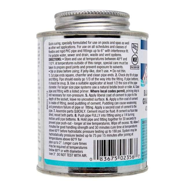 4 x 2356S United Elchem Pool-Tite PVC Cement, Blue (4 Pack) 3