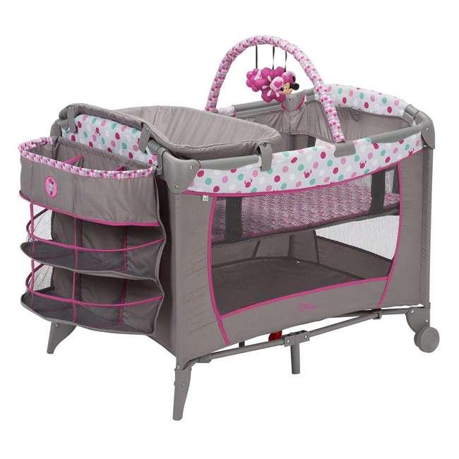 PY373EGF Disney Baby PY373EGF Sweet Wonder Play Yard with Bassinet, Storage, Minnie Dot