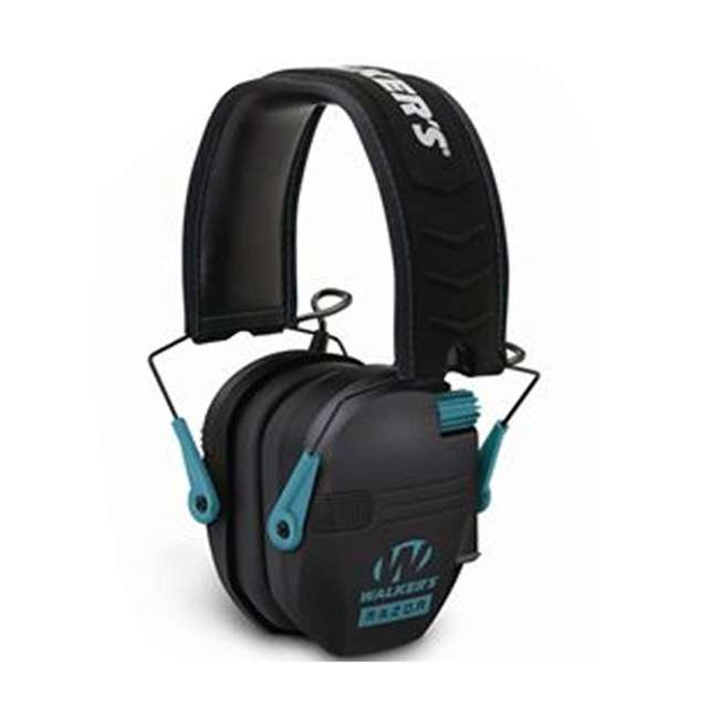 GWP-RSEM-TL + GWP-REMSC Walkers Electronic Bluetooth Ear Muffs (Black & Teal) & Storage Carrying Case 1