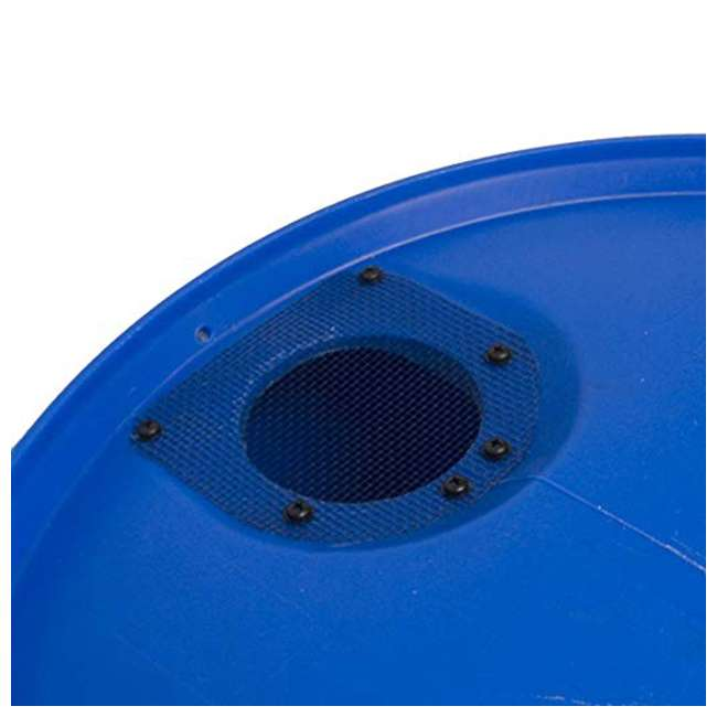 RB55-BLUE-U-A Good Ideas Blue 55G Recycled Plastic Rainwater Collection Barrel Drum (Open Box) 2