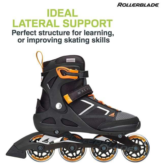 07847100956-8 Rollerblade Macroblade 80 Mens Adult Performance Inline Skates, Orange and Black 2