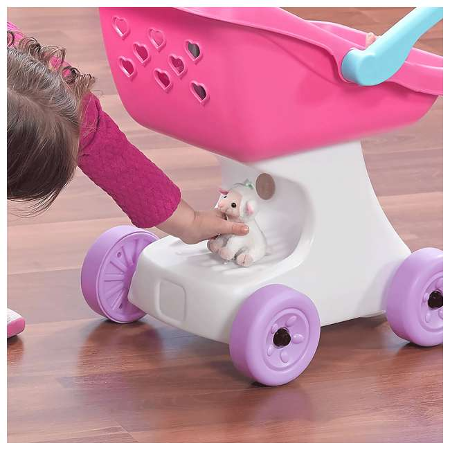 854100 Step2 Love & Care Baby Doll Kids Push Stroller Toy, Pink 5