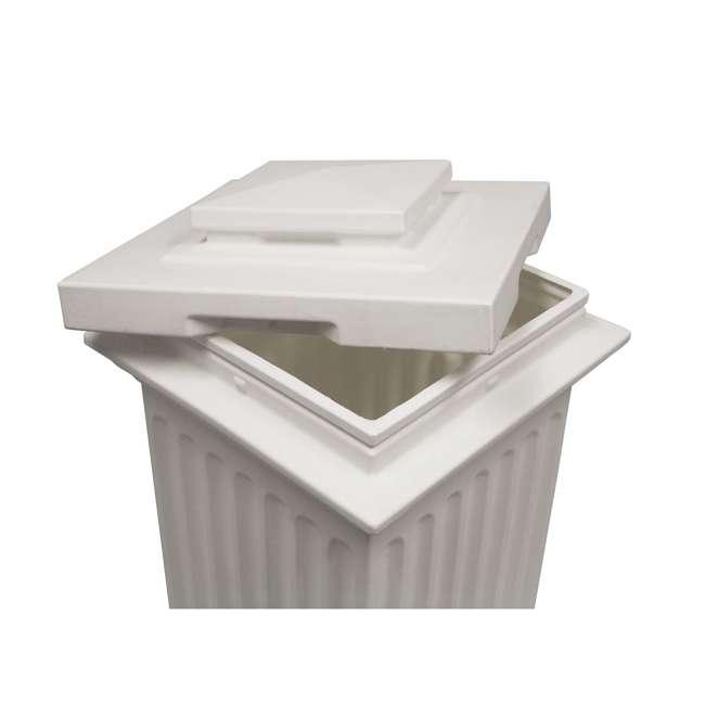 SV-COL-WHI Good Ideas Savannah Patio Outdoor Column 30 Gallon Storage and Waste Bin, White 1