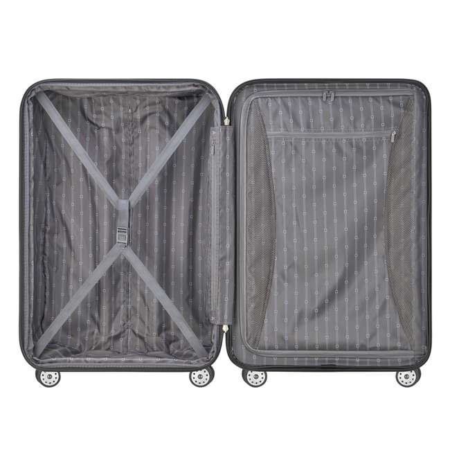 07649PL DELSEY Paris Helium Aero Expandable Rolling Carry On Luggage Suitcase, Gray 3