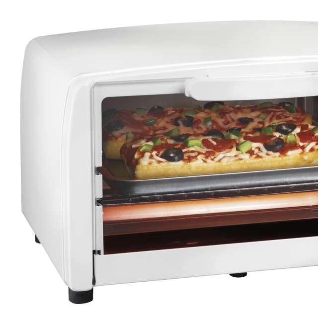 Proctor Silex 4 Slice Toaster Oven Broiler White 31116r