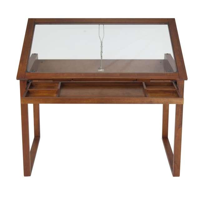 STDN-13280 Studio Designs Wooden Glass Top Ponderosa Drafting Desk (2 Pack) 3