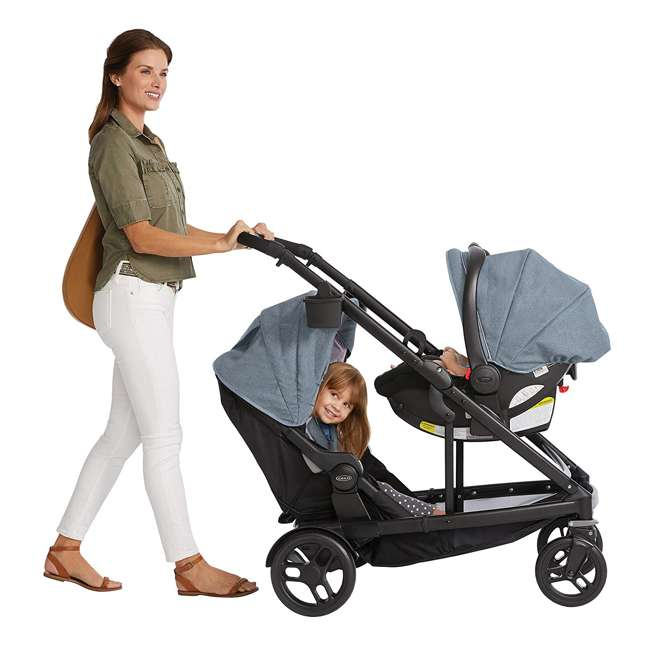 2032495 Graco UNO2DUO Baby Single Double Stroller & Infant Car Seat Travel System, Hazel 9