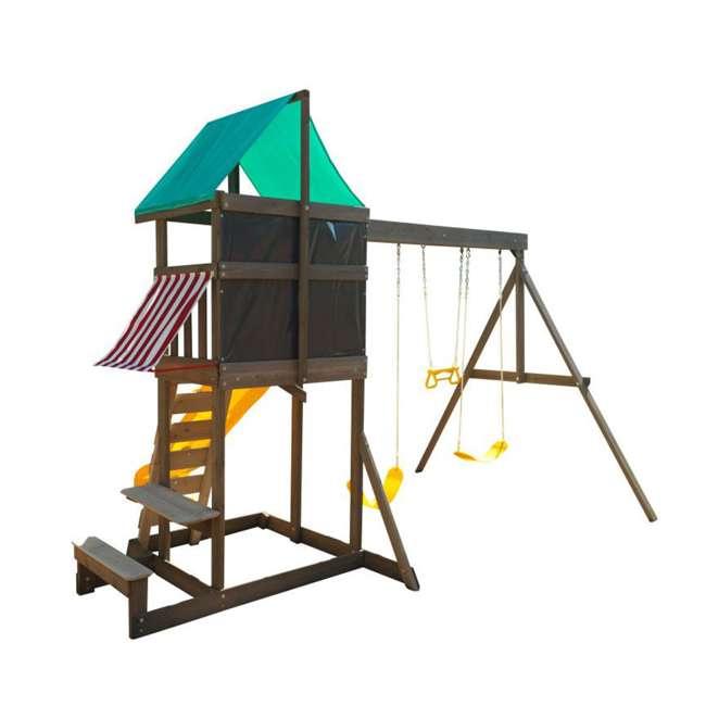 KDK-F29015 KidKraft Newport Wooden Playset with Swings and Slide  2