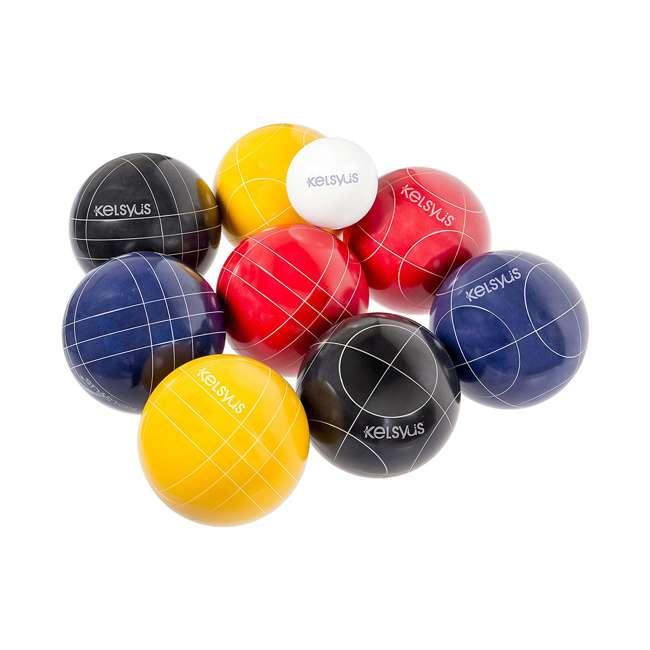 6038655 SwimWays Kelsyus 6038655 Premium 100mm Outdoor Play Bocce Ball Game Set Kit