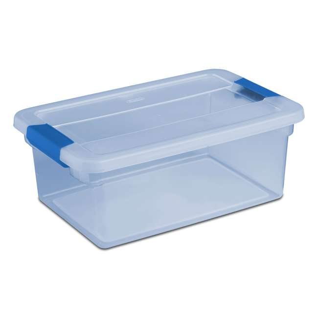 24 x 17534512 Sterilite ClearView Latch 15 Quart Plastic Storage Container Bin, Blue (24 Pack)