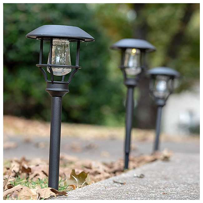 MR-90042 Moonrays Solar LED Garden Sidewalk Path Lights (4 Pack) 3
