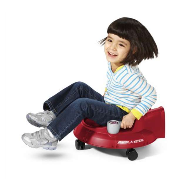 S635 Radio Flyer Spin N Saucer Toy for Ages 1 to 5, Red 3
