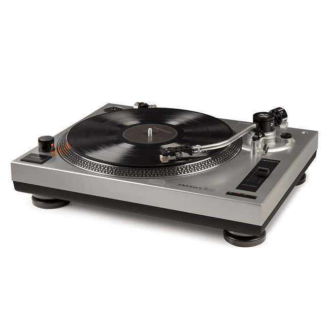 C100A-SI Crosley C100 2-Speed Preamp Record Player Turntable 1