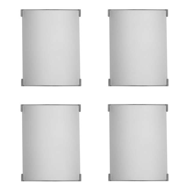 4 x PLC-F546036U Philips Forecast Edge Bathroom Wall Light, Satin Nickel (4 Pack)
