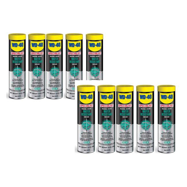 10 x WD-300417 WD 40 Marine Water Resistant Grease, 14 Ounces(10 Pack)