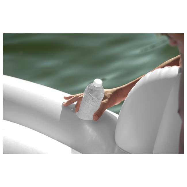56296CA + 66639E Intex Inflatable Island Float Raft | Intex 120V Quick Fill AC Electric Air Pump 9