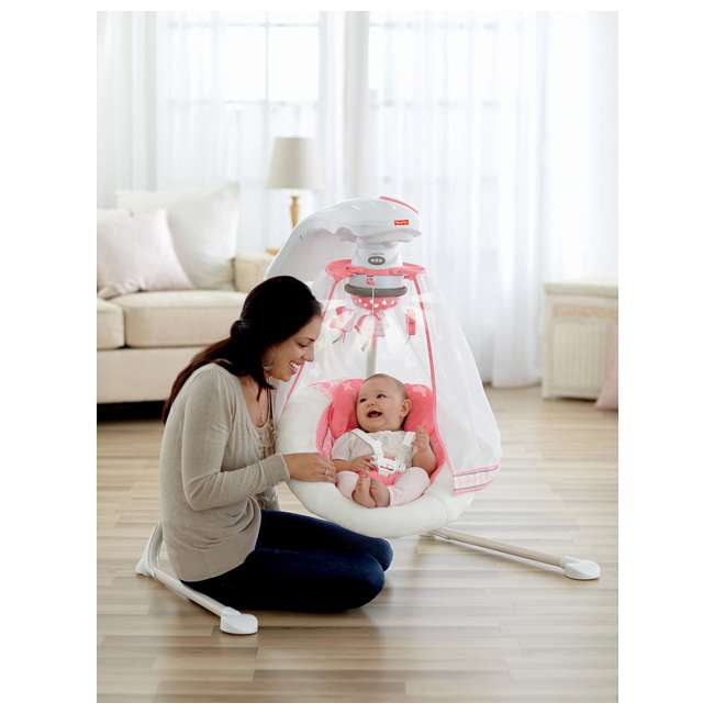Fisher Price Baby Cradle Amp Swing With Music Coral Floral