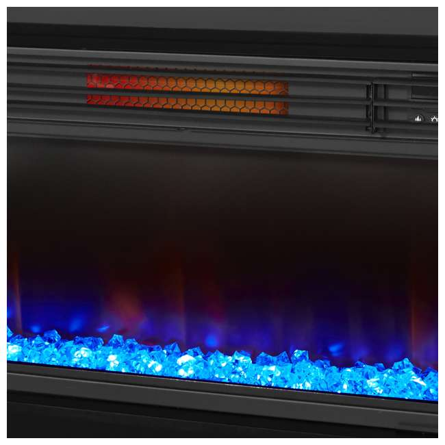 LS-ZCFP1034US-BLACK LifeSmart LifeZone Electric Infrared Quartz Fireplace Heater (2 Pack) 5