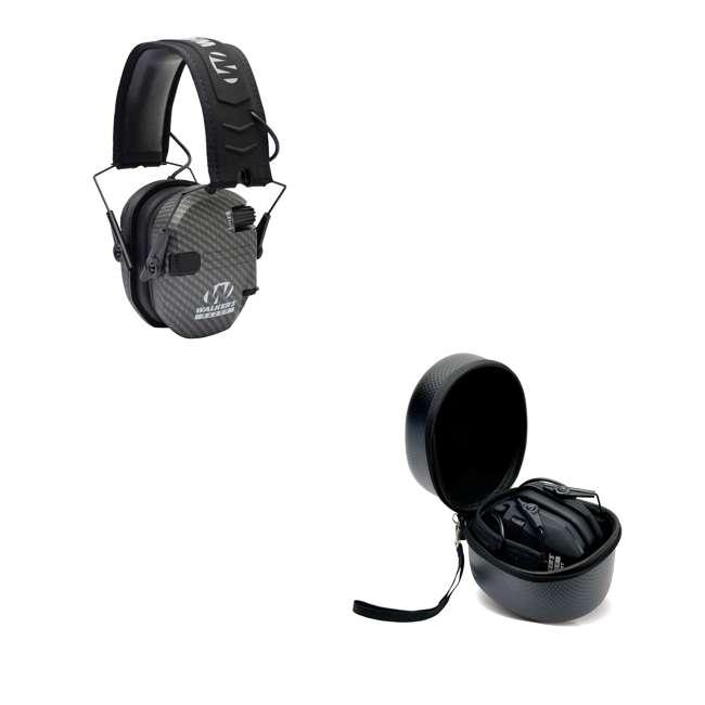 GWP-RSEM-CARB + GWP-REMSC Walker's Razor Hearing Protection Earmuff w/ Walker's Razor Ear Muff Case