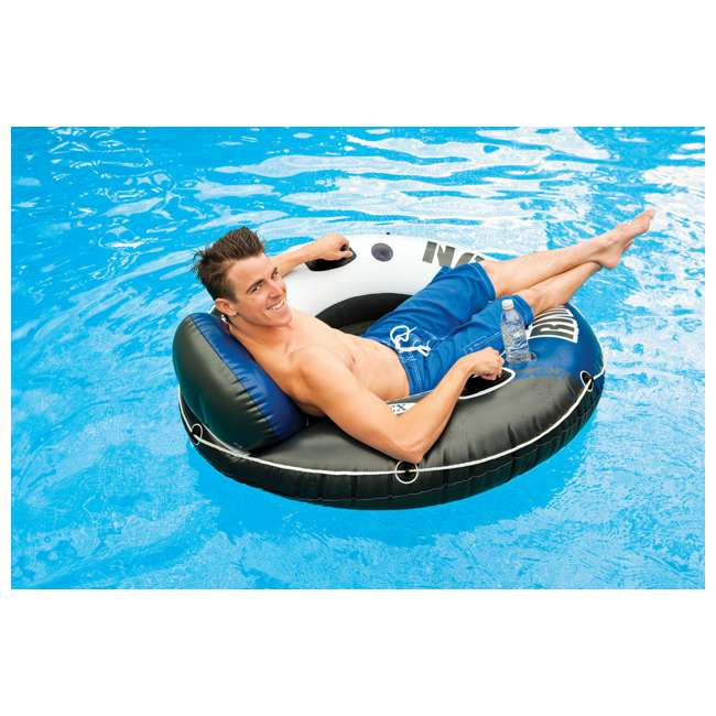 3 x 58825EP-U-A Intex River Run 1 Person Inflatable Floating Tube Raft for Lake/Pool  (Open Box) 3