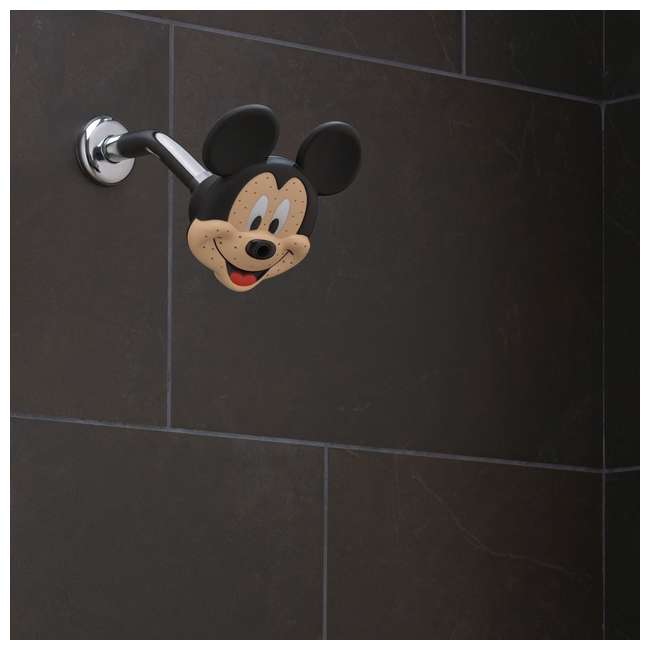 4 x 79268-MICKEYF Oxygenics Disney Mickey Mouse Fixed Shower Head (4 Pack) 1