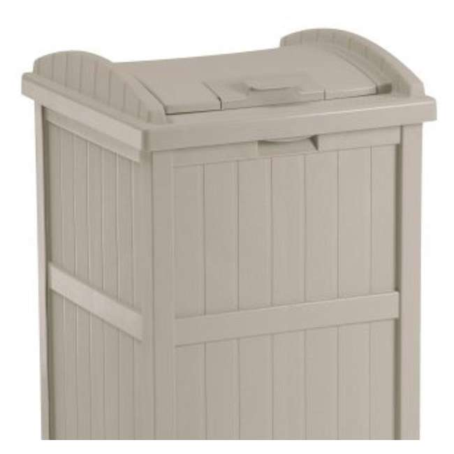 4 x GH1732-U-A Suncast  30-33 Gallon Patio Resin Garbage Trash Can Hideaway (Open Box) (4 Pack) 4
