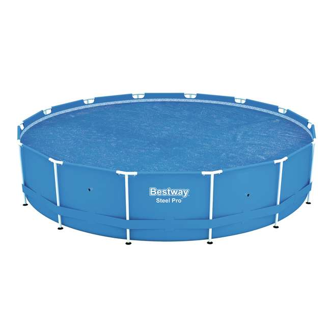 58252E-BW-U-A Bestway 14-Foot Floating Above Ground Pool Solar Heat Cover (Open Box) (2 Pack)