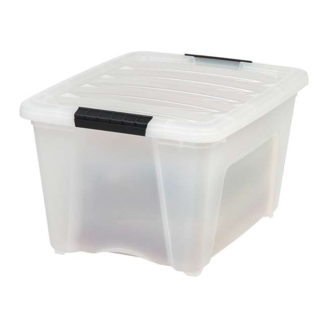 588248-6PK IRIS 32 Quart Stack and Pull Storage Container Box Bin System w/ Lids (6 Count) 2