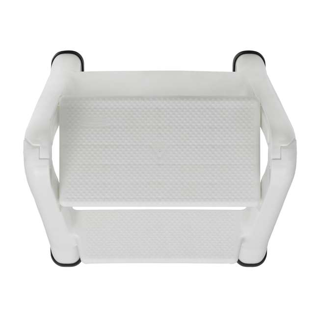 FG420903WHT Rubbermaid EZ Step 2 Step Folding Step Stool with Foot Pads, White (2 Pack) 3