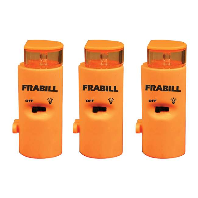 3 x 1681 Frabill 1681 Arctic Fire Ice Fishing Battery Powered LED Tip Up Light (3 Pack)