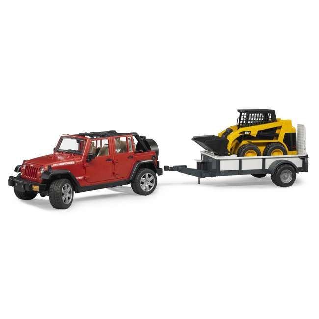 02925-BR Bruder Toys Jeep Wrangler Unlimited Rubicon with Cat Loader 3