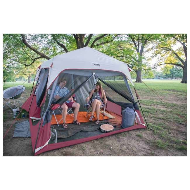 CORE-40069 CORE Outdoor Family Camping 9-Person Pop Up Cabin Tent 5