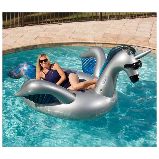5022 GAME Giant Inflatable Mystique Alicorn Swimming Pool Float (Open Box) (2 Pack) 4