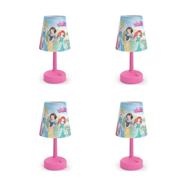 4 x PLC-7179628U0 Philips Disney Princess Castle Pink Table Lamp (4 Pack)