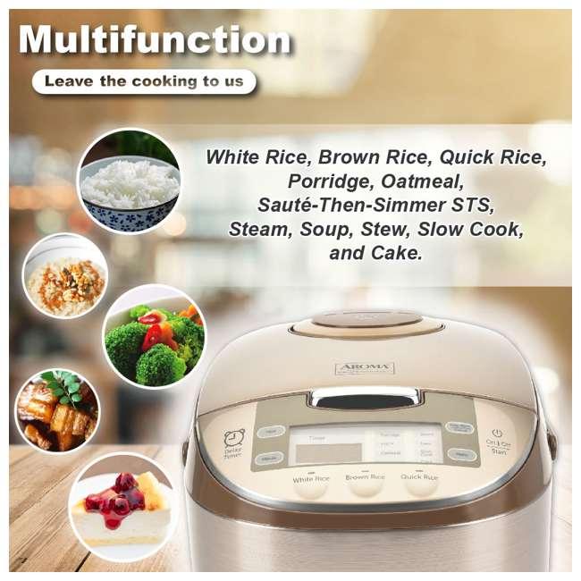 ARC-6106-U-A Aroma Professional 12 Cup Rice & Multi Cooker & Steamer w/ Utensils (Open Box) 2