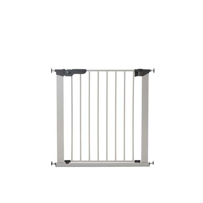 BBD-60117-5692 BabyDan Premier True Pressure Fit 28.9-36.7 Inch Doorway Safety Baby Gate Silver 1