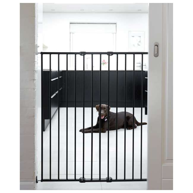 BBD-57616-2600 BabyDan 57616 Streamline Extra Tall 42 Inch Wall Mounted Pet Safety Gate, Black 2