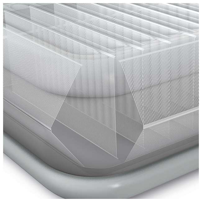 3 x 64417EP Intex High Rise Dura Beam Air Bed Mattress w/ Built-In Pump, Queen (3 Pack) 8