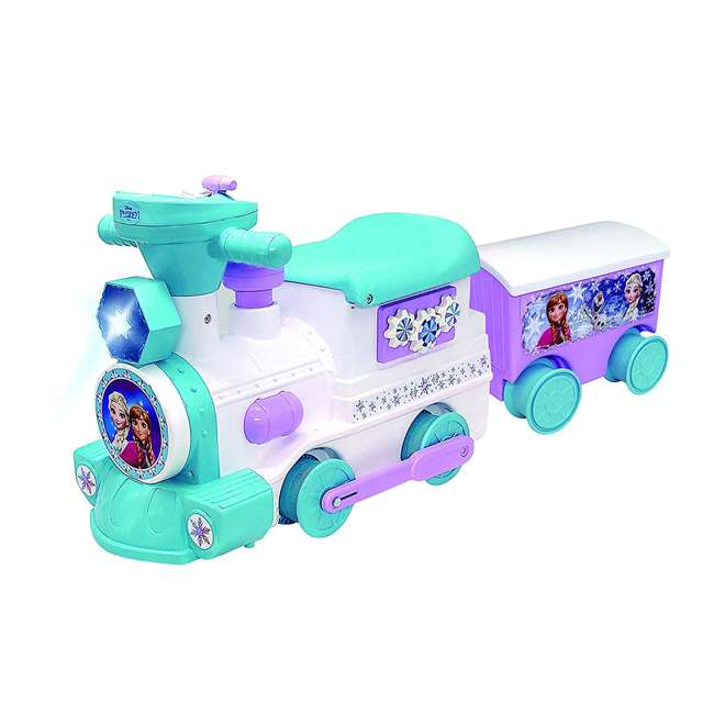 KDL-060376 Kiddieland Disney Frozen 2 in 1 Battery Powered Train with Caboose and Tracks