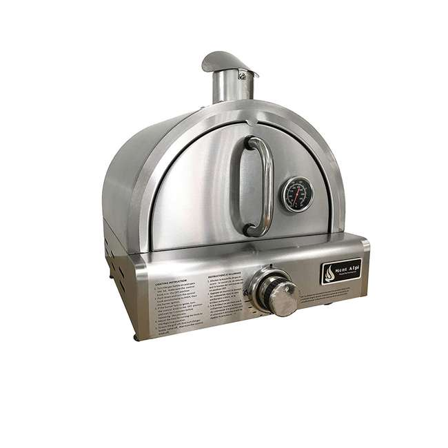 MAPZ Mont Alpi MAPZ Table Top Gas Stainless Steel Large Portable Pizza Oven Cooker 3
